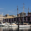 Ship in Porto Antico, Genoa - Stock Photo