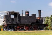 Italian steam locomotive — Stock Photo