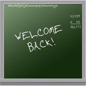 Welcome Back on ChalkBoard — Stock Photo