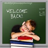 Schoolbord - welkom terug — Stockfoto