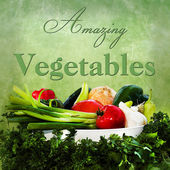 AMAZING VEGETABLES (ILLUSTRATION/TEXT) — Stock Photo