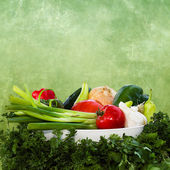 FRESH CRISP VEGETABLES ILLUSTRATION — Stock Photo
