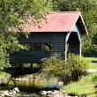 Stock Photo: Quaint Country Covered Bridge