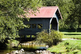 Quaint Country Covered Bridge — Stock Photo