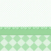 Soft Green Polka-dots/Hearts Background — Stock Photo