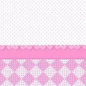 Pink Polka-Dot Illustration/Background — Fotografia Stock