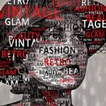 Винтаж/ретро текст леди (Иллюстрация) — Стоковое фото