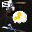 Hot Enough Eggs Frying on Asphalt — Stok fotoğraf