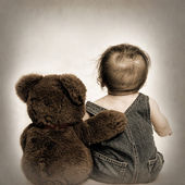 Teddy and Best Friend Teddy — Zdjęcie stockowe