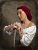 Peasant Girl - Old World — Stock Photo