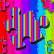 Royalty-Free Stock Photo: Puzzle Piece Illustration (VIVID COLORS)