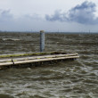 Floating Dock in Stormy Weather — Stock Photo