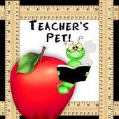 Teacher's Pet Illustration, Background — Stock Photo
