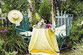 Tea in the Garden — Stock Photo