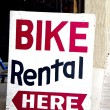 Stock Photo: Bike Rental Sign