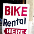 Bike Rental Sign — Stock Photo