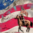 Patriotic Cowgirl Background — Stock Photo