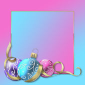 Vánoční decoraton pozadí — Stock fotografie
