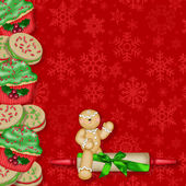Gingerbread Man Background — Stock Photo