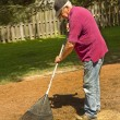 Retired man Raking — Stock Photo #30115097