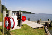 Fuel Tank at Boating Dock — Stock Photo