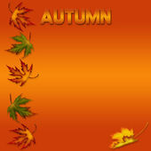 Bakgrund orange hösten — Stockfoto