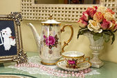 Vintage Vanity Tea Set — Stock Photo