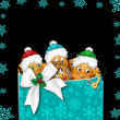 Christmas Illustration - Group Potato Characters — ストック写真