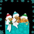 Christmas Illustration - Group Potato Characters — Stock Photo
