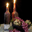 Two Candles with Melting Wax — Stock Photo #32759427