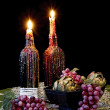Two Candles with Melting Wax — Stock Photo #32759429
