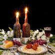 Dinner Table Setting (Italian Style) — Stock Photo