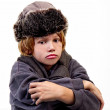Boy wearing Fur Hat — Stock Photo