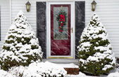 Home in after Winter Storm — Stock Photo