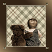 Best Friends, Baby and Teddy — Stock Photo