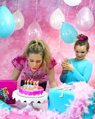 Girl's Birthday Party — Stock Photo