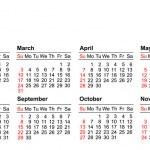 American Calendar — Stock Vector #12842864