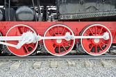 Steam locomotive wheels — ストック写真