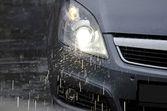 Car in the rain — Stock Photo