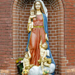 Statue of the Ave Maria near the church of Saints Simon and Helena in Minsk, Belarus — Stock Photo #13312560