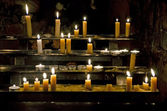 Background - candles in the church — Stock Photo