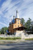 Drewniany kościół — Zdjęcie stockowe