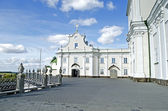 Entrance to the gallery to the cave Barbara Church in Pochaev La — Stock Photo