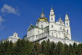 Holy Dormition Cathedral in Pochaev Lavra — Stock Photo