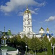 Trinity cathedral and bell tower in Pochaev Lavra — Stock Photo #13650752