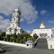 Stock Photo: Trinity cathedral and bell tower in Pochaev Lavra