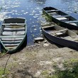 Three old wooden boats — Stock Photo