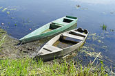 Two old wooden boats — Stock Photo