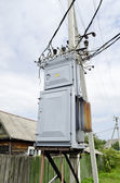 Electrical power transformer — 图库照片