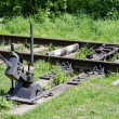 Railroad switch - 图库照片